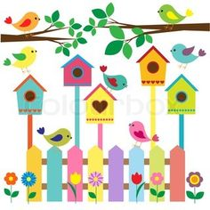 bird house cartoon images - Google Search