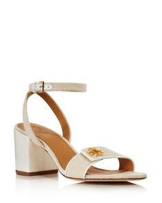 de4a9027705 Tory Burch Women s Kira Block Heel Sandals in Natural - Lyst