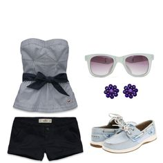 I'm blue, created by mariejoyxo on Polyvore