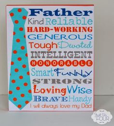 Subway Art Father's Day Printable