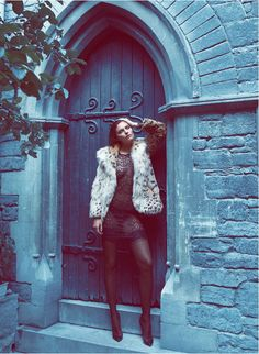 Alyssa Miller Wows in Fur Styles for Harpers Bazaar Turkey December by Koray Birand
