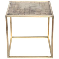 Architectural Brass Table by Charles Lamb