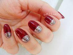 PinNails: Halloween Nails 1 & Spiderweb nails in gelish How To Do Nails, Fun Nails, Half Moon Manicure, Cool Nail Designs, Halloween Nails, Claws, Stamping, Nailart, Hair Beauty