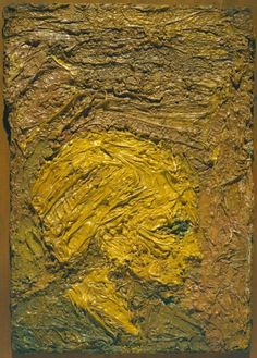 Frank Auerbach 'Small Head of E. Frank Auerbach, Art Terms, Postmodernism, Portrait Art, Figurative Art, Fine Art Photography, Art Images, Painting & Drawing, Modern Art