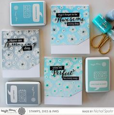 Nichol Spohr LLC: Waffle Flower Crafts It's In The Details | Clean & Simple Encouragement Cards