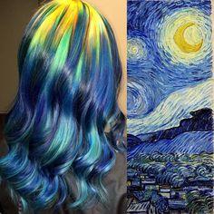 Nesse exemplo, a inspiração veio do quadro 'A Noite estrelada', de Van Gogh