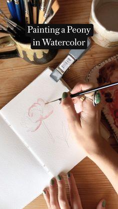 Watercolor Paintings For Beginners, Watercolor Art Lessons, Watercolour Tutorials, Watercolor Techniques, Watercolor Flowers Tutorial, Art Techniques, Watercolor Tips, Watercolor Drawing, Paisajes