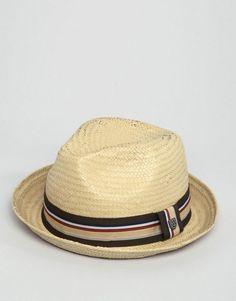 018dd58dd6d90 Brixton Castor Fedora Straw Hat - Tan