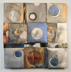 """""""Universe (Luna Abstract Series)""""  Ceramic Wall Art  Take a simple element and repeat"""