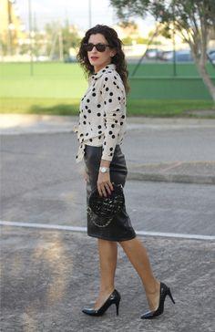 Falda de Cuero - Leather Skirt Sin categoría - inlovewithfashion