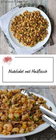 Nudelsalat mit Hackfleisch | Essen | Rezept | Kochen