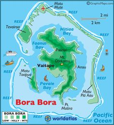 Bora Bora large color map