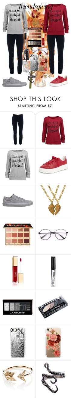 """Friendsgiving: Twinning"" by maddzzzz04 ❤ liked on Polyvore featuring Cambio, Puma, Vans, Dollydagger, tarte, Rimmel, Casetify, EF Collection and M&Co"
