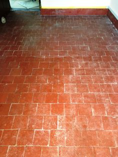 Quarry Tiled Floor Banbury Before Cleaning Tiled Hallway, Quarry Tiles, New Kitchen, Cottages, Tile Floor, Porch, Farmhouse, Cleaning, Flooring
