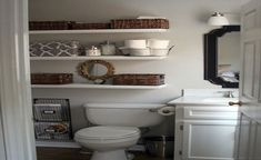 Cool Ideas For Small Bathroom Storage Makeover ~ http://lanewstalk.com/important-things-for-small-bathroom-makeovers/