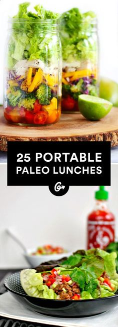 25 Paleo Lunches to Brown Bag to Work #paleo #lunch #recipes greatist.com/...