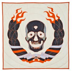 Ben Venom art blog- He makes quilts, clothing, and pillows out of upcycled heavy metal t-shirts