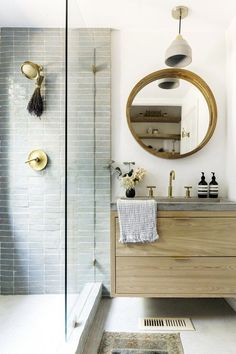 These amazing bathroom designs may have you dreaming of the very own luxury bath. See house plans with stunning baths that promise to have you feeling pampered with marble  and stylish fixtures. #Bathroomdecor
