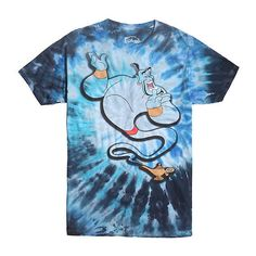 Disney Aladdin Tie Dye Genie T-Shirt Hot Topic ($10) ❤ liked on Polyvore featuring disney