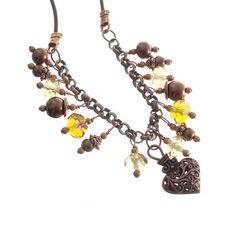 "Marissa's Heart Necklace, 18"""