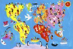 Geography Gouache Illustrations, Geography, Google Images, Childrens Books, Illustrator, Travel, Urban Landscape, Cards, Children's Books