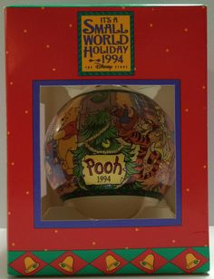 (TAS030459) - 1994 It's A Small World Holiday Disney Ornament Winnie The Pooh