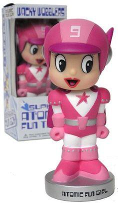 Funko Wacky Wobbler Exclusive Atomic Fun Girl http://popvinyl.net #funko #funkopop #popvinyl