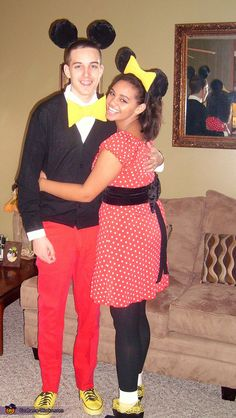 Mickey and Minnie Mouse - couple costume ideas