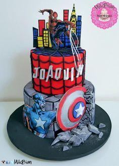Avengers Cake - Cake by MileBian