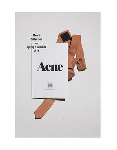 Acne 2012 - This is a very smart cover. #goodstuff