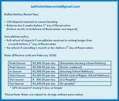 ballitoholidayrental@gmail.com Rates - Ballito Holiday Accommodation