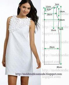 Tổng hợp chart may váy suông cho nàng béo bụng chọn may2
