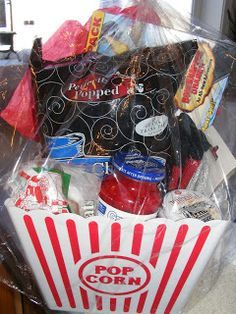 """A Movie Buff Gift Set:  you can make up the gift set with tons of fun stuff like, picking up a large """"popcorn"""" bowl, some cozy socks, and goodies from your nearest dollar store. You could add a fun $5 DVD, or netflix gift card. -$15-$20: Everyday Mom Ideas: 10 Unique Christmas Gifts Under $20! -2010"""
