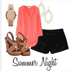Dressy shorts and wedges