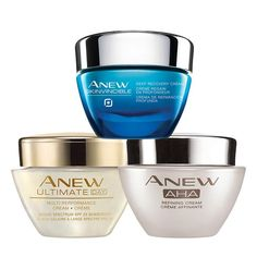A $104 value, this trio includes:Anew Ultimate Multi-Performance Day Cream Broad Spectrum SPF 25Most people think that you can't stop time, but they haven't tried our #1 selling anti-aging skin care routine. Anew Ultimate Multi-Performance Day Cream has the age-defying, moisturizing properties that you'd expect now with celluvive complex added to the formula. Featuring extract from the Yanang Leaf, this patent-pending formula repairs skin while visibly healing the signs of aging. Use this