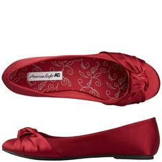 Bridesmaids dancing shoes  American Eagle Audrey Flat @ Payless. red cranberry maroon...great for Christmas, Valentine's Day, or even a wedding. Much more comfy than heels.