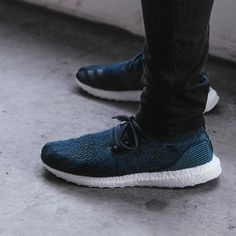 9ae07c4bf291 Parley x adidas Ultra Boost Uncaged  blue   white  (BY3057) - KICKS