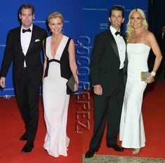 walk the red carpet. White House Correspondents Dinner, Megyn Kelly, Donald Trump Jr, Ivanka Trump, Red Carpet, Fashion Outfits, Formal Dresses, Clothes, Dresses For Formal
