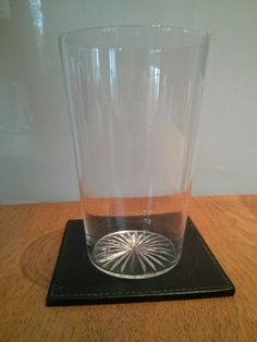 Very fine beer glass with cut base.