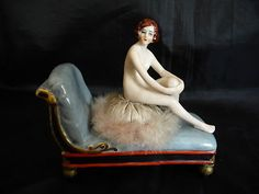 RARE Powder Nude Lady Seat Down on A Meridian Half Doll Related | eBay