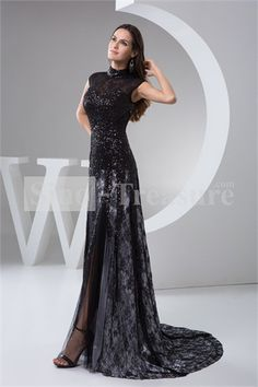 Wonderful Brush/ Sweep Train Elastic Woven Satin Prom Dress