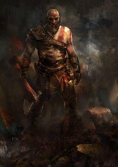 Spass und Spiele — Kratos – God of War fan art by Murat Gül Wii U, Geeks, God Of War Game, Kratos God Of War, Game Concept Art, Hero Wallpaper, Greek Gods, Cool Artwork, Game Art