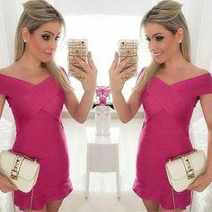 vestido-pink-lindo-curto-justo-bandagem-comprar