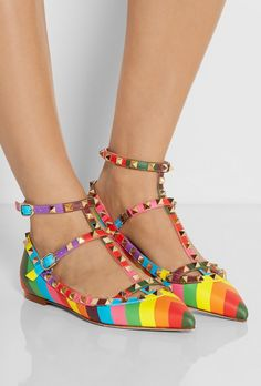 Valentino rainbow flats