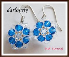 Sp! Blue Flower ... by darlovely | Jewelry Pattern - Looking for your next project? You're going to love Sp! Blue Flower Earrings (ER002) by designer darlovely. - via @Craftsy