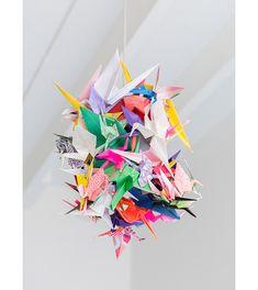 New Origami Crane Lamp Paper Ideas Diy Paper, Paper Crafting, Paper Art, Mobil Origami, Origami Lamp, Origami Birds, Origami Cranes, Origami Paper, Handmade Crafts