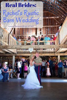 Real Brides: Rachel's Rustic Barn Wedding - Michigan.