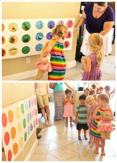 Rainbow Punch Pinata-I like this SO much better than the mad scramble for candy where someone always winds up crying and/or hurt