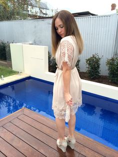 Summer Dreaming :: Dreamer Dress from Bohemian Traders and Hollywood wedges from Spend-less Shoes