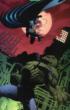 Batman and Killer Croc by Roger Robinson